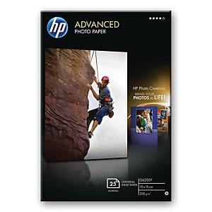 Fotopapir HP Advanced Glossy Q8691A, 15 x 10 cm, 250 g, eske à 25 ark