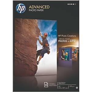 Fotopapier HP Q5456A, A4, 250g, glossy, 25 Blatt