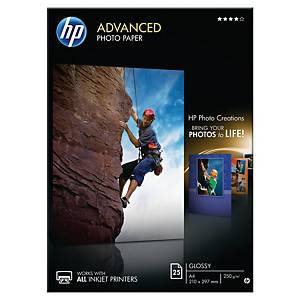 HP Q5456A A4 Advanced Glossy Photo Paper 250gsm - Pack of 25