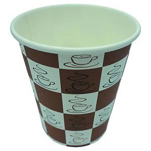 Kartonnen beker voor koffie, 24 cl, pak van 50 bekers