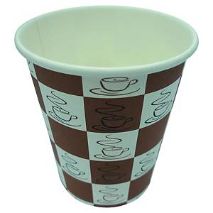 Quick Cups Brown Paper Coffee Cup 240ml - Pack of 50