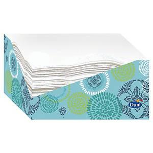 Duni servetten in dispenser, 2-laags, 24 x 33 cm, wit, pak van 60 servetten