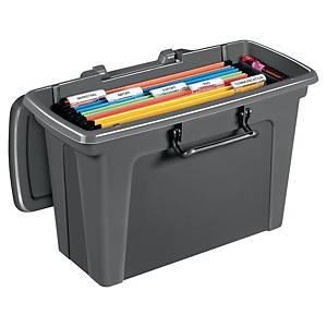 Hängemappenbox Strata HW667, für Hängehefter, Maße: 470x280x240mm, anthrazit
