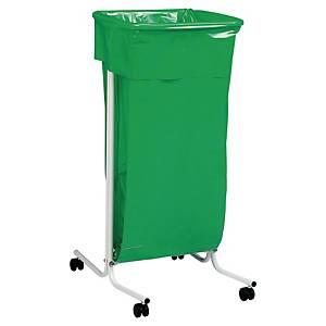 Abfallbeutelhalter Rossignol First Line mit Rollen, Fassungsvermögen 110 l, grün