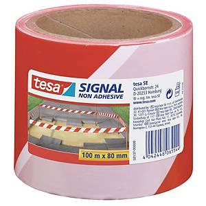 Afspærringsbånd Tesa Signal, rød/hvid