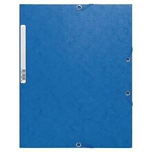 Exacompta elastomap, 3 kleppen, 2 sluitelastieken, A4, Scotten 425 gr, blauw