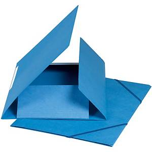 Gummizugmappe Biella A4, Karton 590g/m2, blau