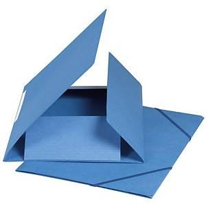 Chemise à élastique Exacompta A4, boite, 590g/m2, bleu