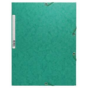Chemise 3 rabats Exacompta - carte gaufrée - verte