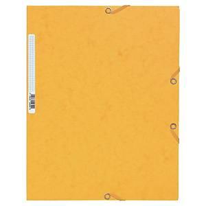 Chemise 3 rabats Exacompta - carte gaufrée - jaune