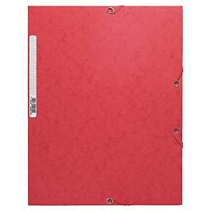 Chemise 3 rabats Exacompta - carte gaufrée - rouge
