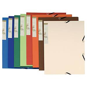 EXACOMPTA FOREVER A4 3-FLAP FILE ASSORTED - PACK OF 25