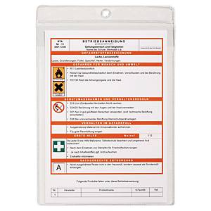 Sichttaschen Durable 2307, A4, PP, transparent, 10 Stück