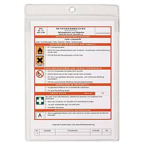 Pochette à suspendre Durable 2307-19, A4, avec perforation, transp., 10unités