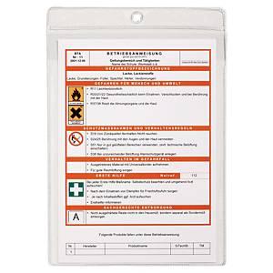 Busta porta avvisi Durable A4 in polipropilene trasparente - conf. 10