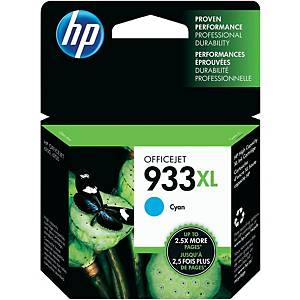 HP 933XL (CN054AE) inkt cartridge, cyaan, hoge capaciteit