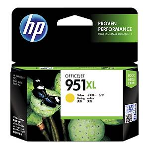 HP 951XL High Yield Yellow Original Ink Cartridge (CN048AE)