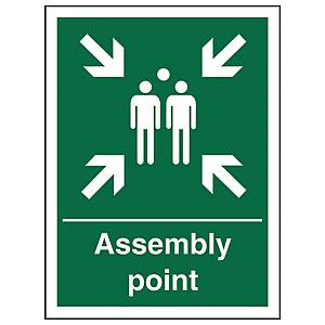 Assembly Point Sign 150 X 200mm Vinyl