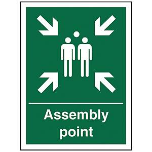 Assembly Point Sign 150 X 200mm PP