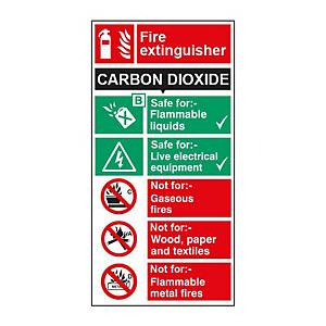 C02 Extinguisher Sign 100 X 200mm Vinyl