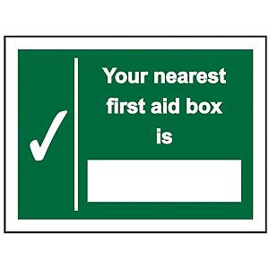 Nearest First Aid Box Sign 200 X 150mm PP