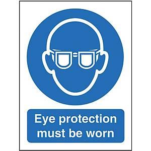 Eye Protection Sign 150 X 200mm Vinyl