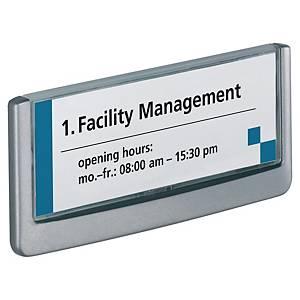 Durable Clicksign Transparent Title Size Doorsigns 149 X 52.5mm