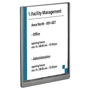 Plaque de porte Durable Click Sign 4867-37, 210 x 297 mm, graphite