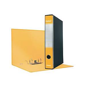 Registratore a leva Esselte Oxford cartone dorso 5 cm protocollo giallo