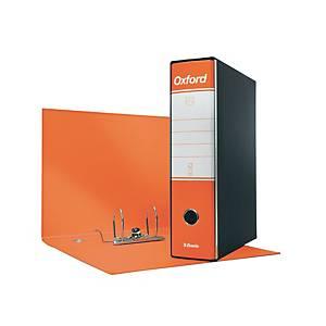 Registratore a leva Esselte Oxford cartone dorso 8 cm protocollo arancione