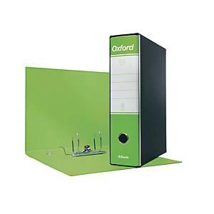 Registratore a leva Esselte Oxford cartone dorso 8 cm protocollo verde lime