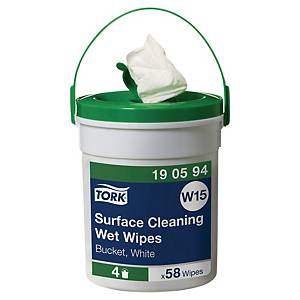 Tork Surface Cleaner Wet Wipes - Bucket of 58