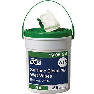 Tork Premium cleaning cloths in bucket - pack of 58