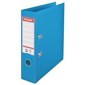 Pákový pořadač Esselte No. 1 Power, šířka hřbetu 7,5 cm, světle modrý