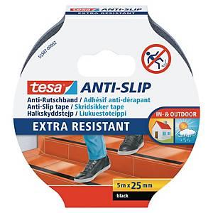 tesa® 55587 anti-slip tape, 25 mm x 5 m, black