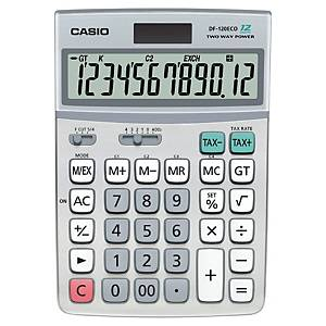Casio DF-120 ECO rekenmachine voor kantoor, grijs, 12 cijfers