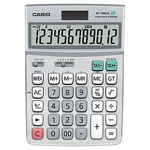 Tischrechner Casio DF-120ECO, 12-stellige Anzeige, silber