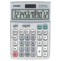 Calculatrice de bureau Casio DF-120ECO, affichage de 12chiffres, argenté