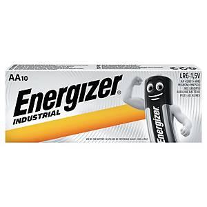 Baterie Energizer Industrial, AA/LR06, alkalické, 10 kusů v balení