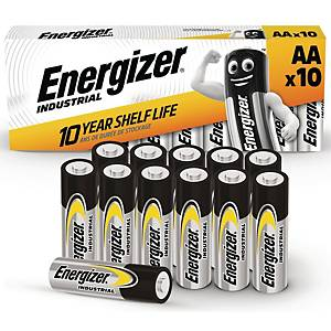 Batterier Energizer Industrial Alkaline AA, förp. med 10 st.