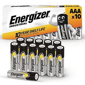 Batterier Energizer Industrial Alkaline AAA, pakke a 10 stk.