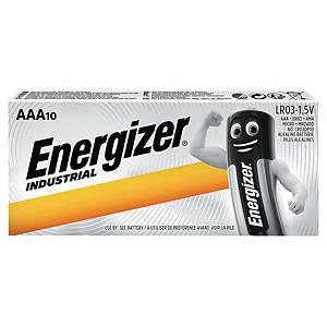 Batterie Energizer 636106, Micro, LR03/AAA, 1,5 Volt, Industrial, 10 Stück