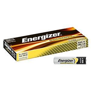 Pack de 10 pilhas alcalinas Energizer L92/LR03/AAA - 1,5 V