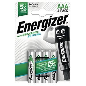 Energizer Extreme AAA/HR3 ladattava akku, 1 kpl=4 akkua