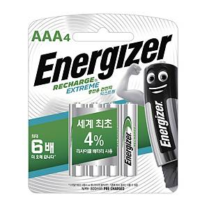 ENERGIZER 충전용 건전지 AAA 4입