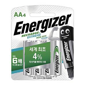 PK4 ENERGIZER  RECHARGEABLE AA 2300 PRE