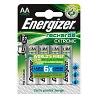 Pack de 4 pilhas recarregáveis Energizer Extreme AA/HR6 - 2300 mAh