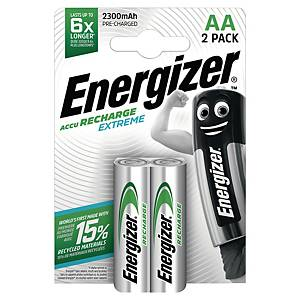 Energizer Extreme wiederaulad. Batterien, HR6/AA, 2300 mAh, Packung mit 2 Stück