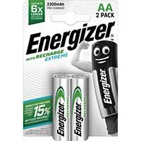 Batteries Energizer Rechargeable AA, HR6/E91/AM3/Mignon, paq. 2unités