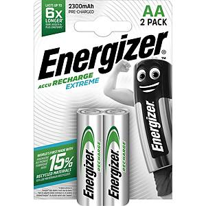 Batteries Energizer Rechargeable AA, HR6/E91/AM3/Mignon, paq. 2 unités